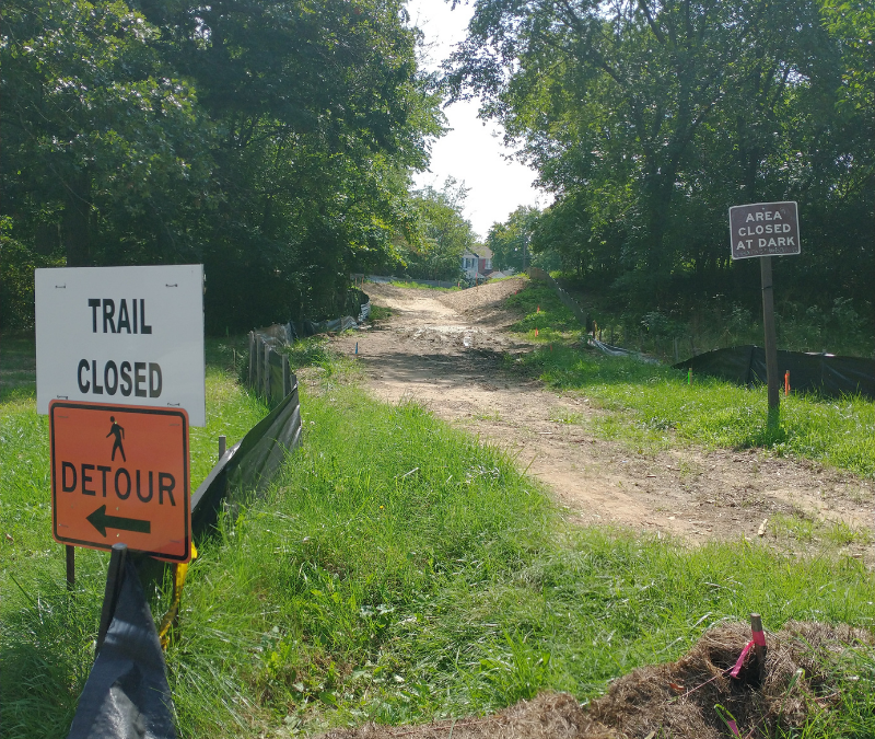 Construction Halted on North Michigan Park-Fort Totten Pedestrian Path
